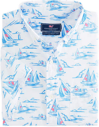 Vineyard Vines Short-Sleeve Sailing Scene Classic Murray Shirt