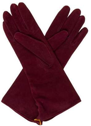 Etro Suede Button-Accented Gloves w/ Tags