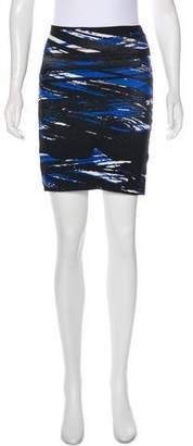 BCBGMAXAZRIA Abstract Print Mini Skirt