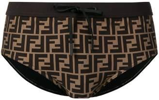 Fendi FF logo swimming trunks