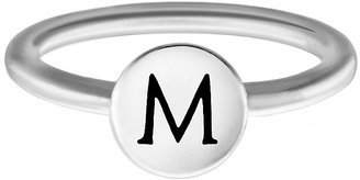 Chamilia Sterling Silver M Alphabet Disc Ring Size R
