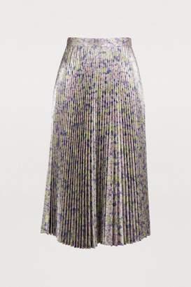 Stella McCartney Stella Mc Cartney Lurex pleated midi skirt
