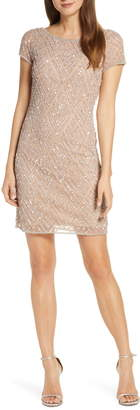 Pisarro Nights Chevron Sequin Sheath Dress