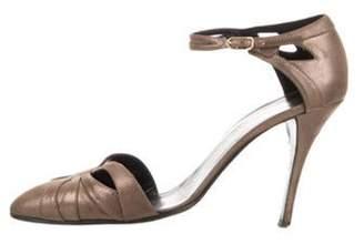 Hermà ̈s Suede Ankle Strap Sandals Gold Hermà ̈s Suede Ankle Strap Sandals