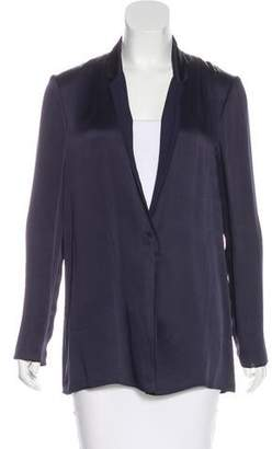 Lanvin Grosgrain-Trimmed Notch Lapel Blazer