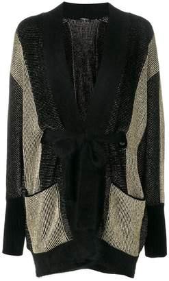 Balmain striped long cardigan
