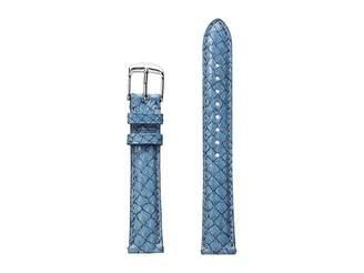 Michele 16mm Seamist Fish Skin Strap Blue
