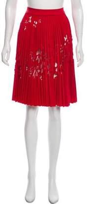 Valentino Pleated Knee-Length Skirt