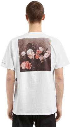 Raf Simons New Order Print Cotton Jersey T-Shirt
