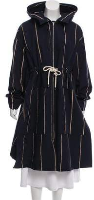 Celine Striped Oversize Coat w/ Tags