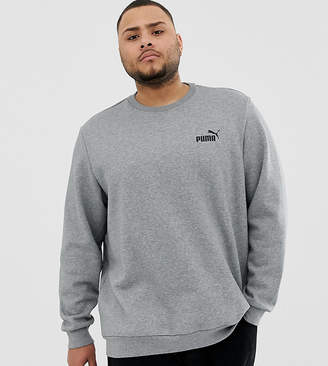 Puma PLUS Essentials sweat with small logo in grey