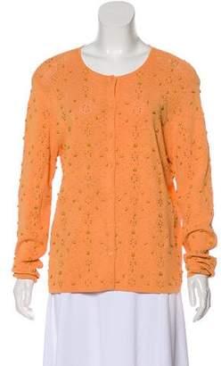 Oscar de la Renta Oscar by Embellished Knit Cardigan
