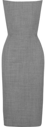 Gareth Pugh Strapless Wool-jacquard Dress - Gray