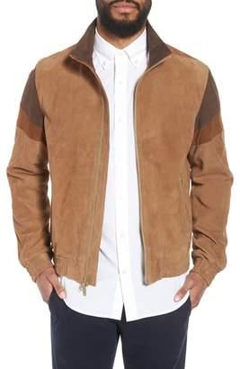 Vince Colorblock Leather Track Jacket