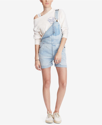 Denim & Supply Ralph Lauren Cotton Denim Overalls $165 thestylecure.com