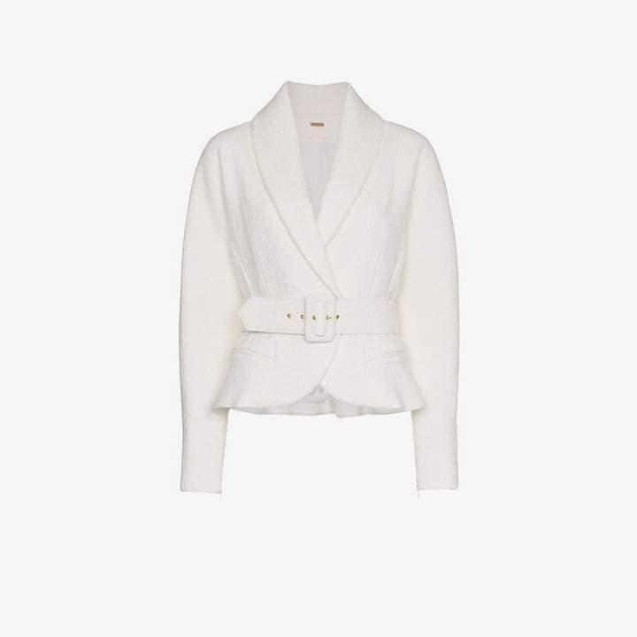 Vida belted wool blend jacket