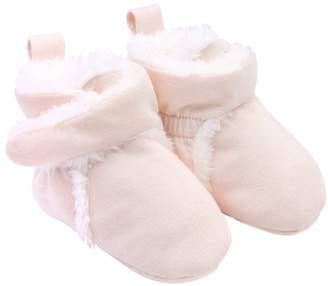 Carter's Baby Girl Pink Wrap Slipper Booties