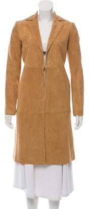 Alice + Olivia Suede Knee-Length Coat w/ Tags