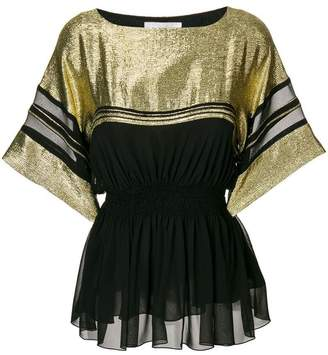 Chloé metallic sequinned sailor blouse