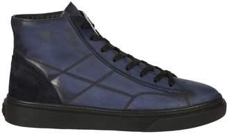 Hogan Stitch Detail Hi-top Sneakers