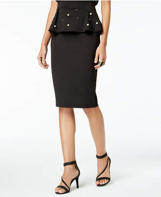 Thalia Sodi Peplum Pencil Skirt