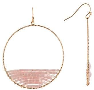 Panacea Bead Hoop Drop Earrings