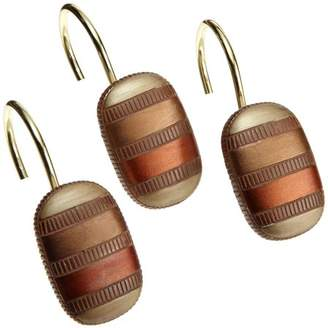 Contempo Spice Shower Hooks, Set of 12, Resin Material By Popular Bath
