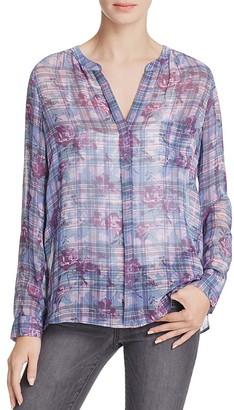 Joie Brigid C Printed Silk Shirt $258 thestylecure.com