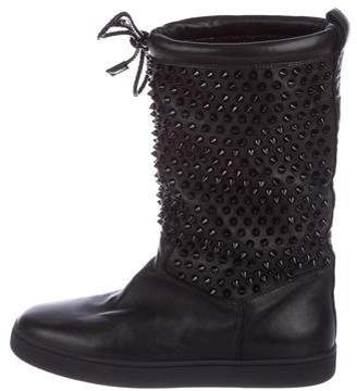 Christian Louboutin Leather Mid-Calf Boots