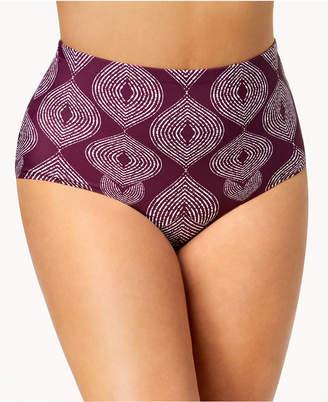 Raisins Curve Trendy Plus Majorelle Printed High-Waist Tummy-Control Bikini Bottoms Women's Swimsuit