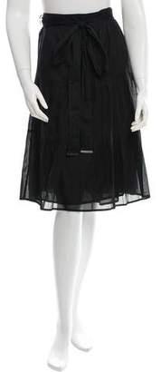 Burberry Ruffle-Trimmed Pencil Skirt