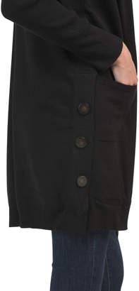 Long Front Pocket Cardigan