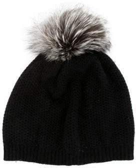 Portolano Fur-Trimmed Knit Beanie