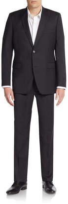 Saks Fifth Avenue Trim-Fit Solid Wool Suit