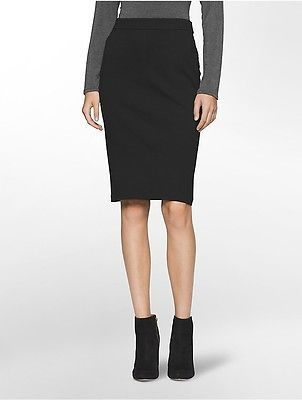 Calvin KleinCalvin Klein Womens Ponte Knit Suit Skirt