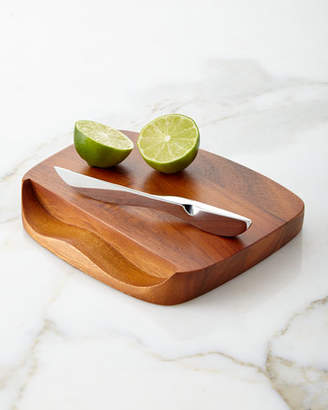 Nambe Blend Bar Board with Knife
