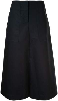 Jil Sander Navy cropped flared trousers