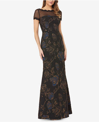 JS Collections Matelasse Illusion Gown
