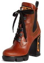 Prada Platform Block Heel Boot