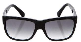 Alexander McQueen Embossed Tinted Sunglasses