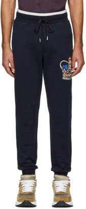 Dolce & Gabbana Blue Crown Lounge Pants