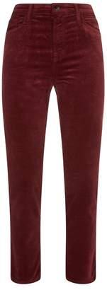 J Brand Ruby Velvet Crop Cigarette Jeans