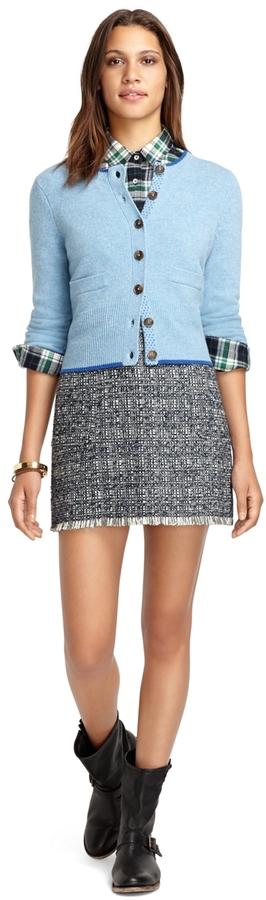 Brooks Brothers Long-Sleeve Wool Cardigan