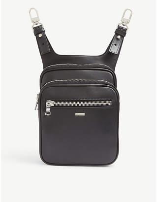 Amiri Leather hip pouch