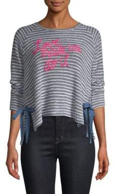 Sundry Embroidered Knit Pullover