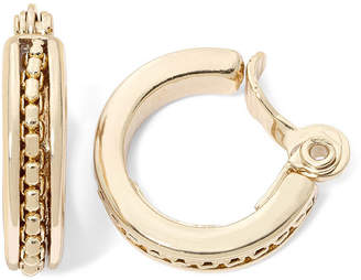 JCPenney MONET JEWELRY Monet Gold-Tone Textured Clip-On Hoop Earrings