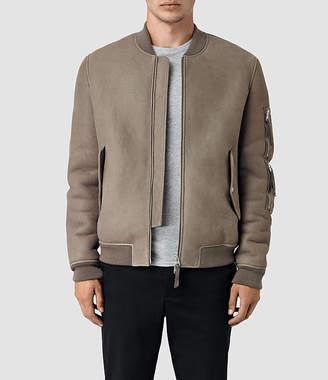 AllSaints Rogan Shearling Bomber Jacket