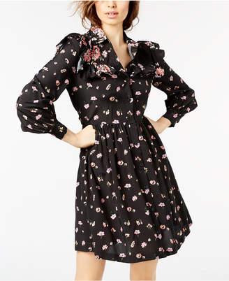 Jill Stuart Printed Ruffled Shirtdress, Created for Macy's
