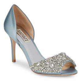 Badgley Mischka Maria Embellished D'Orsay Pumps