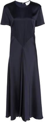 Sportmax Vibo Short-Sleeve Satin Dress